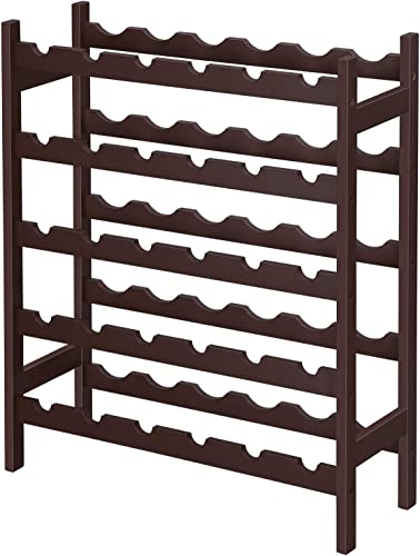 SONGMICS Bamboo Wine Rack
