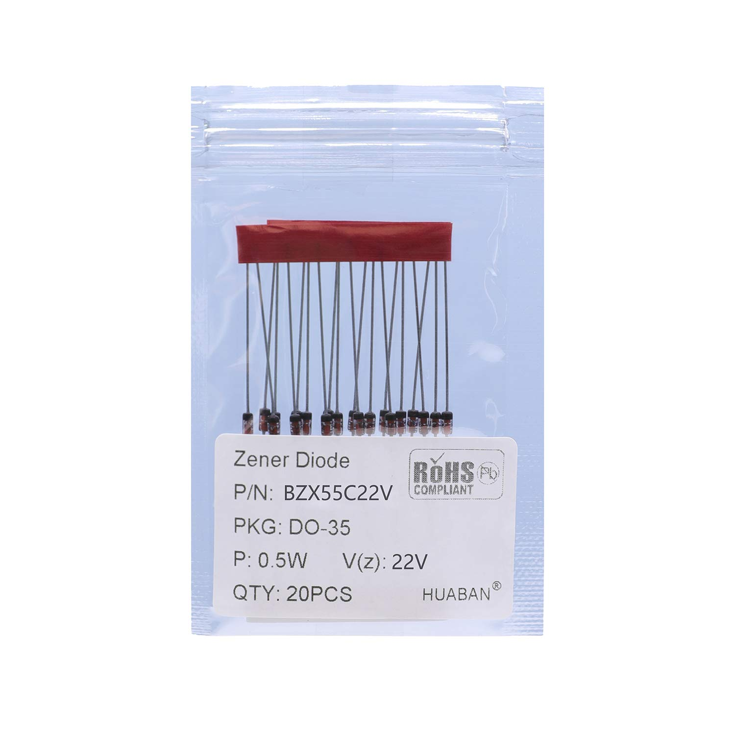 20PCS 1//2W BZX55C3V9 Silicon Planar Power Zener Diodes DO-35 Axial Diode 0.5W 3.9V