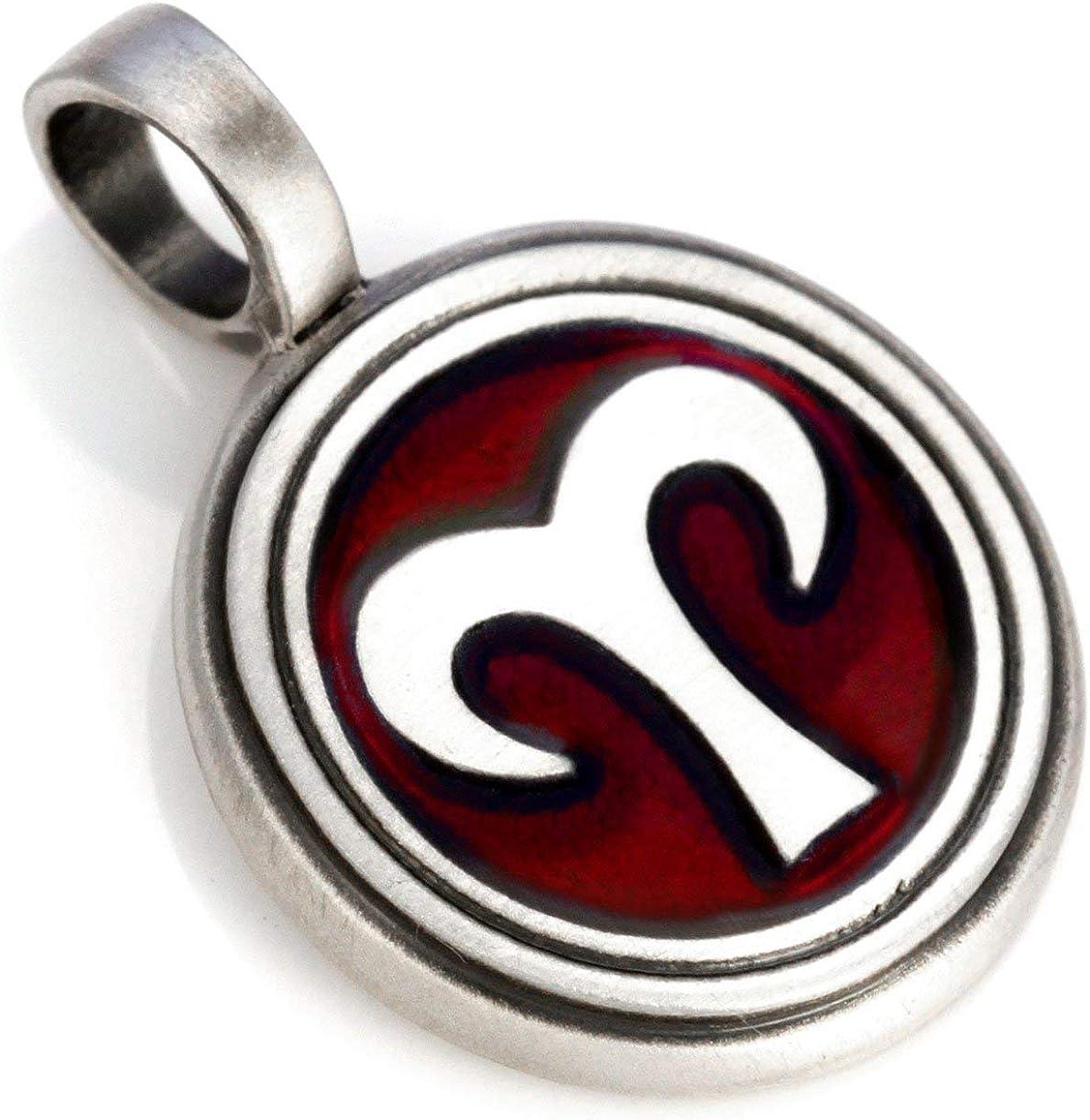 - starsign Z4 Coloured Resin and Metal Tribal Street Jewellery Bico Aries Zodiac Pendant