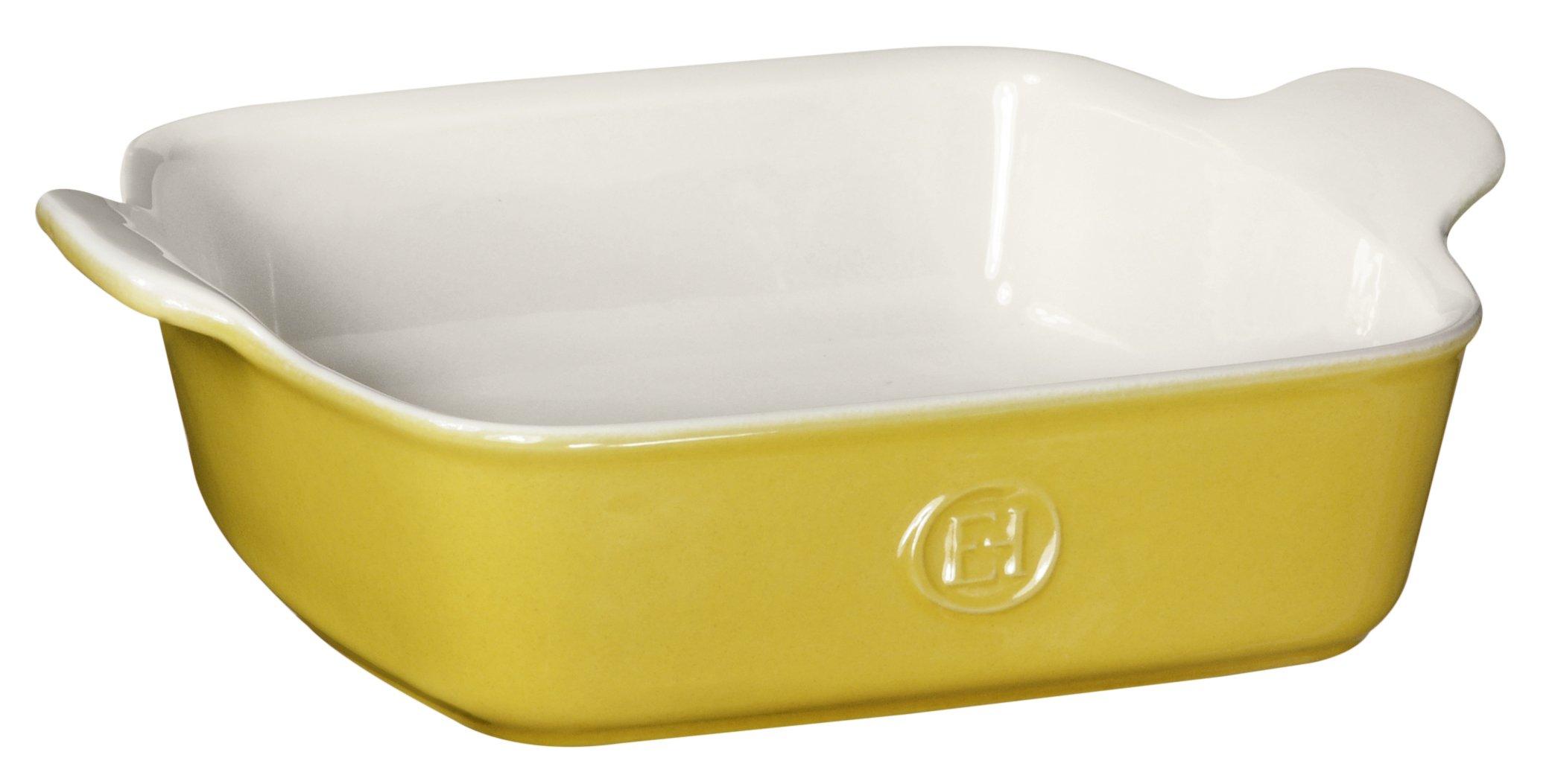 Emile Henry HR Modern Classics Square Baking Dish 8 x 8'' / 2 Qt, Yellow