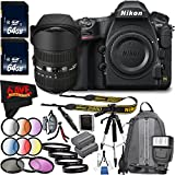 6Ave Nikon D850 DSLR Camera (Body Only) 1585 International Model + Sigma 12-24mm f/4.5-5.6 DG HSM II Lens (For Nikon) Bundle