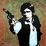 MR.BABES - ''Star Wars: Han Solo (Harrison Ford)'' - Original Pop Art Painting - Movie Portrait