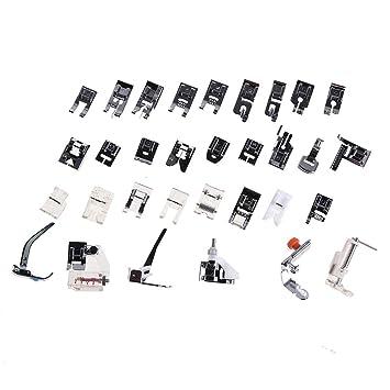 Prensatelas Accesorios para Máquina de coser Matefielduk 32pcs doméstica máquina de coser presser pie conjunto (caja de plástico embalado): Amazon.es: Hogar