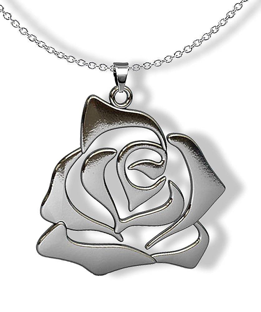 Collana acciaio ciondolo TRIBALE TATTOO ETNICO pendente necklace