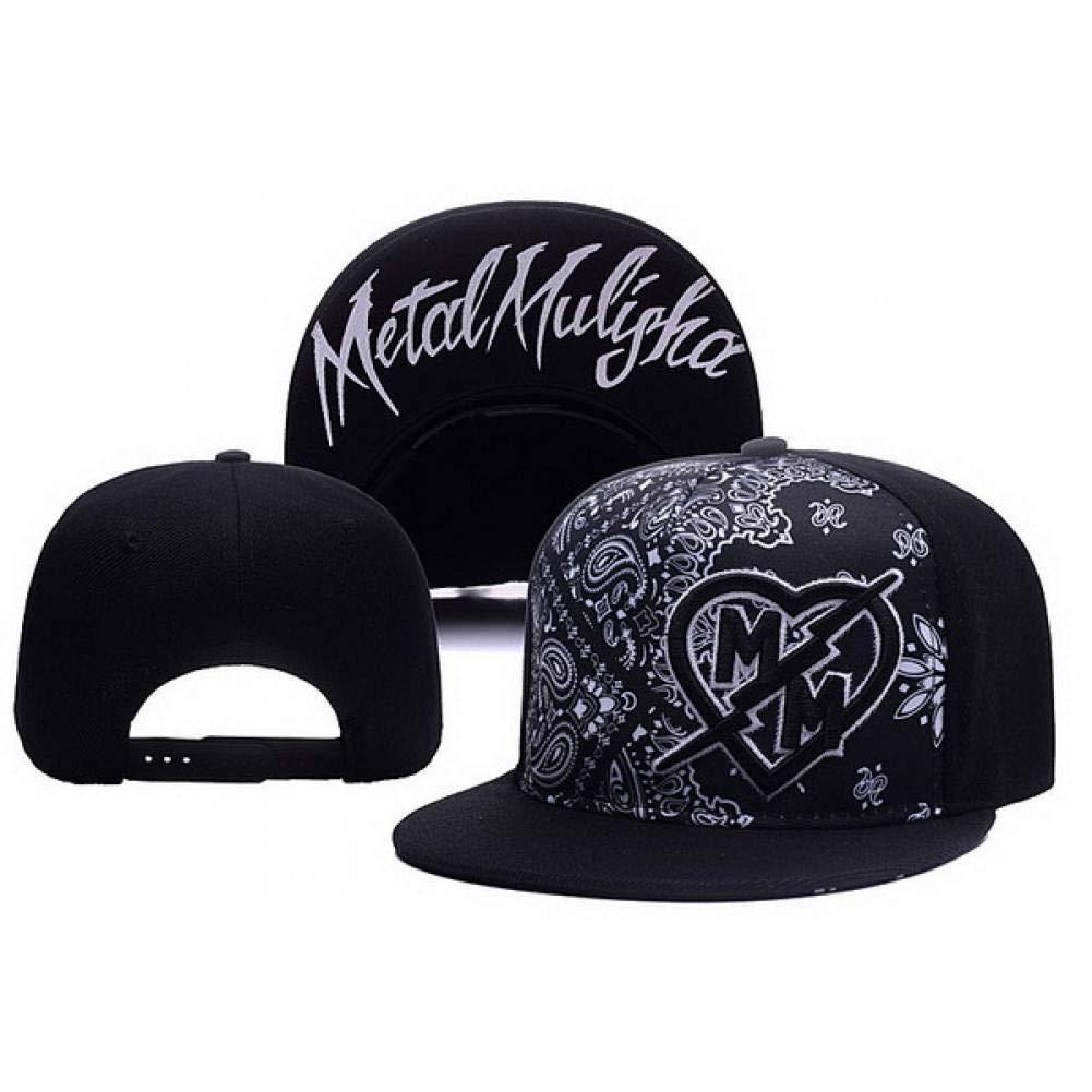 WXHXHW Gorra de Beisbol Moda Metal Mulisha Gorra De B/éisbol Ajustable Hip Hop Snapback Cap para Hombres Mujeres Gorras
