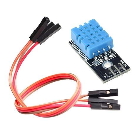 YIKESHU DHT11 Sensor de Temperatura y Humedad módulo para Arduino Raspberry Piâ 2 3(5pcs
