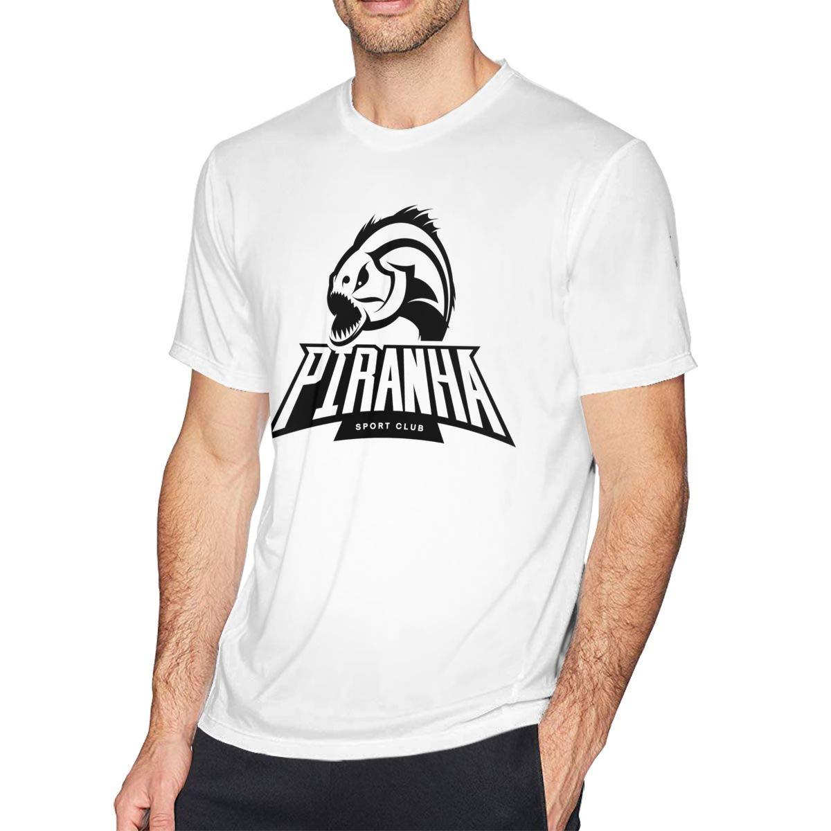 Bfcxbgdsig Piranha Logo Soft and Comfortable Fashionable Tshirt with Round Collar White