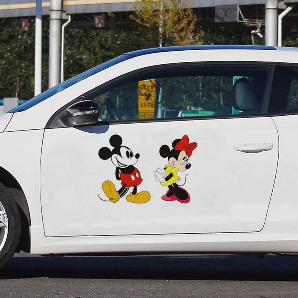 Disney Mickey Decal Mickey Minnie Mouse B/éb/é Accueil Stickers Bande Dessin/ée Stickers Muraux Voiture Fen/être Porte Toilette Autocollant
