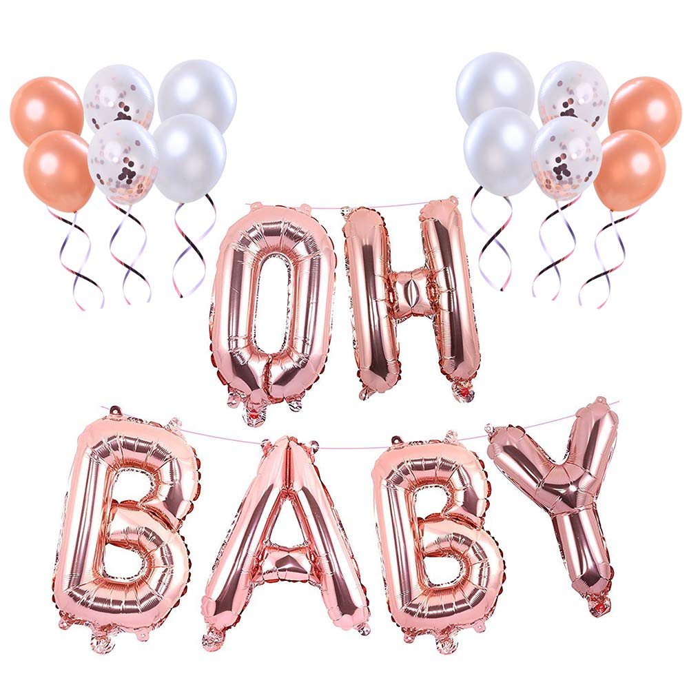 Baby Shower Letter Balloons.Baby Shower Decorations Backdrop 16 Inch Extra Pack Of 10