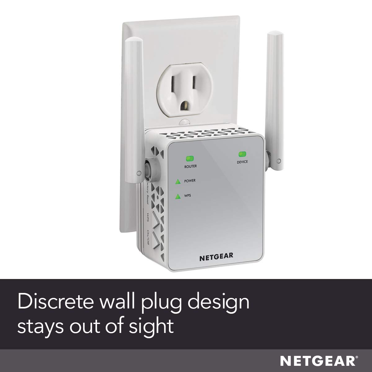 NETGEAR WiFi Range Extender EX3700 - Coverage up to 1000 sq ft  and 15  devices with AC750 Dual Band Wireless Signal Booster & Repeater (up to  750Mbps