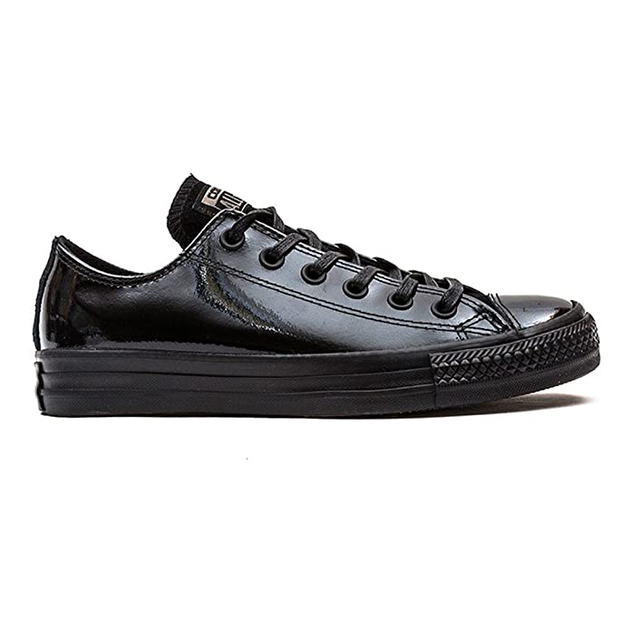 Converse Womens All Star Patent Leather Ox Black Low Top Trainers 5:  Amazon.co.uk: Shoes & Bags