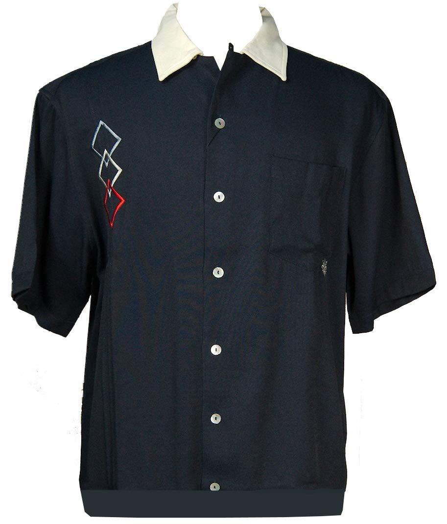 Davinci Triple D Bowling Shirt (S, Navy)