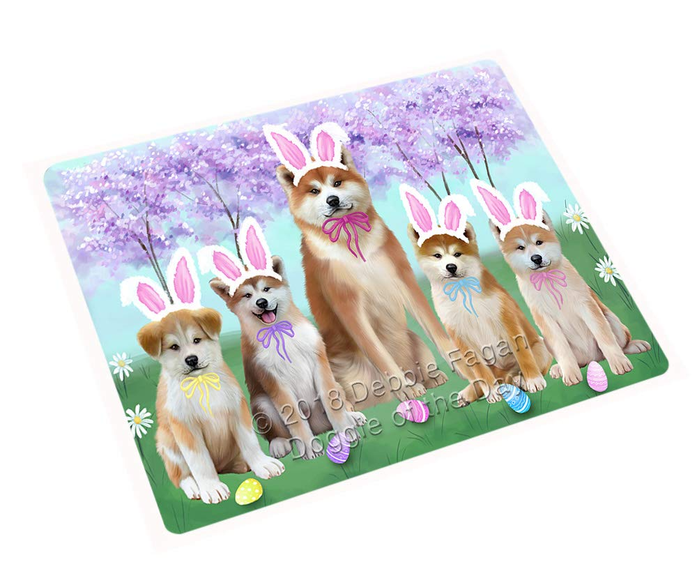 Doggie of the Day Easter Holiday Akitas Dog Blanket BLNKT131439 (60x80 Woven)