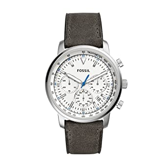 f9489465c Amazon.com: Fossil Men's Goodwin Quartz Stainless Steel and Leather Casual  Watch Color: Silver Tan (Model: FS5438): Watches
