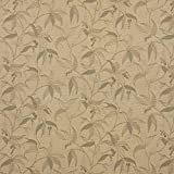"""K0126A Beige, Tan And Teal Floral Vine Woven Solution Dyed Indoor Outdoor Upholstery Fabric By The Meter 