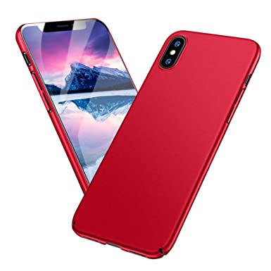 buy popular 9d730 51b91 Meidom Apple iPhone X Case Slim Fit X Cover Case with Hard Plastic  Protective Matte Phone Case for iPhone X - Red