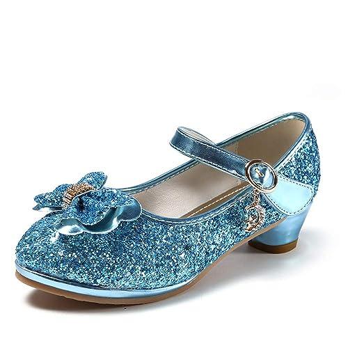 YOSICIL Mädchen Prinzessin Schuhe ELSA Schuhe mit Absatz