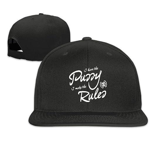 bab93ae1666 Rbfqfm Unisex Baseball Cap I Have The Pussy I Make The Rules Paint Black