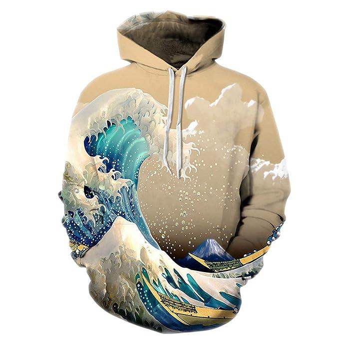 Colorful Sea Waves 3D Impreso Chándal Hip Hop Sudadera con Capucha Sudaderas Divertidas Hombres/Mujeres Streetwear Jerseys Tops: Amazon.es: Ropa y ...