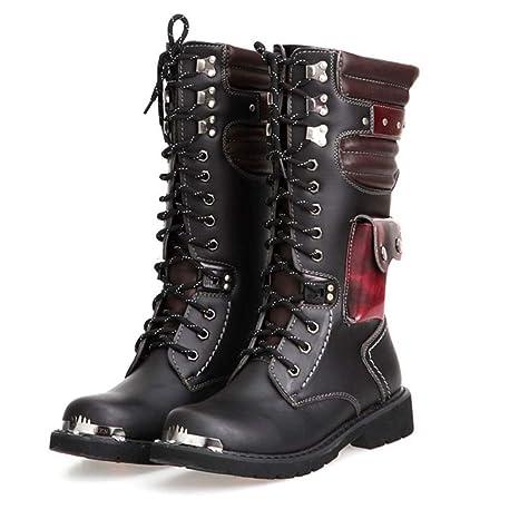 Genuine Leather Gothic Steampunk Martin Boots