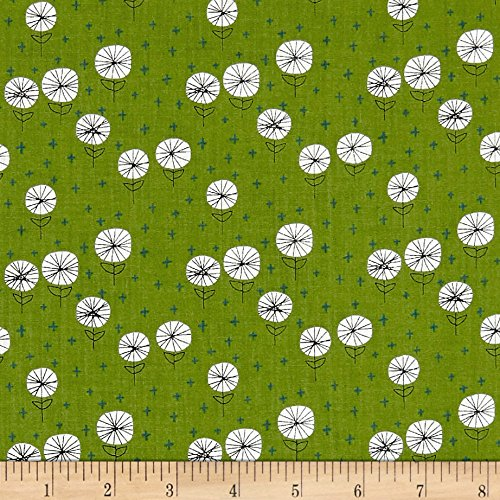 - Andover Around Town Dandelions Lime Fabric by The Yard