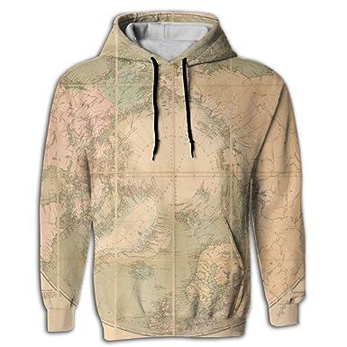Llblk mens hoodie novelty sweatshirt kangaroo pocket world map llblk mens hoodie novelty sweatshirt kangaroo pocket world map young and reckless at amazon mens clothing store gumiabroncs Images