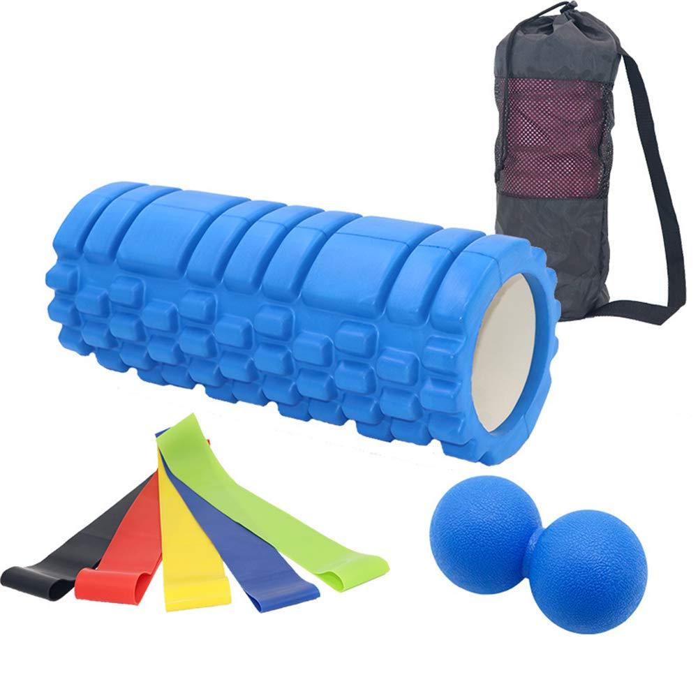 QSBY Yoga-Schaum-Rollen-Übungs-Massage Physio-Gymnastik-Pilates-hohler Kern-Muskel-Rollen-Kern-Balance-Schaum-Gitter-Triggerpunkt-Muskel-Massage-Rolle Eignung-Physio
