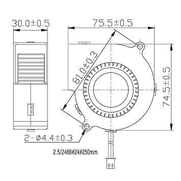 Amazon Com Soundoriginal 12v Dc Brushless Blower Cooling Fan