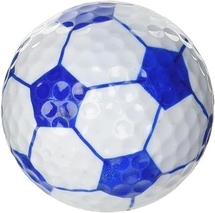 LONGRIDGE Pelotas de Golf con Forma de balón de fútbol, Unisex, 6 ...