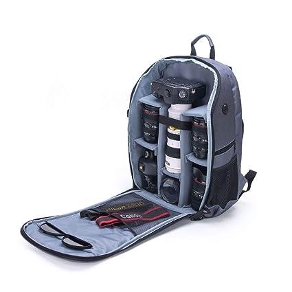 Mochila para cámara réflex - Cubierta contra la Puede acomodar trípode y Otros Accesorios fotográficas para
