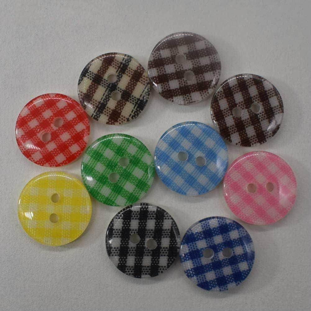 13MM Dorime Boutons Mixtes 50pcs 11.5mm 15MM 18MM Rondes de Haute qualit/é Boutons r/ésine Couture sur HandmadeButtons Shirt Boutons en Plastique