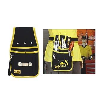 Heavy Duty Oxford Material compuesto de riñonera con compartimento negro y amarillo fundas (A4,