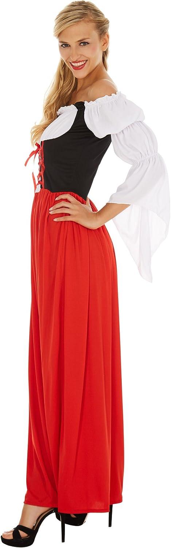 Grazioso Dirndl L | No. 301077 dressforfun Costume da Donna Festdirndl Resi Camicetta Cucita con Unallacciatura Anteriore