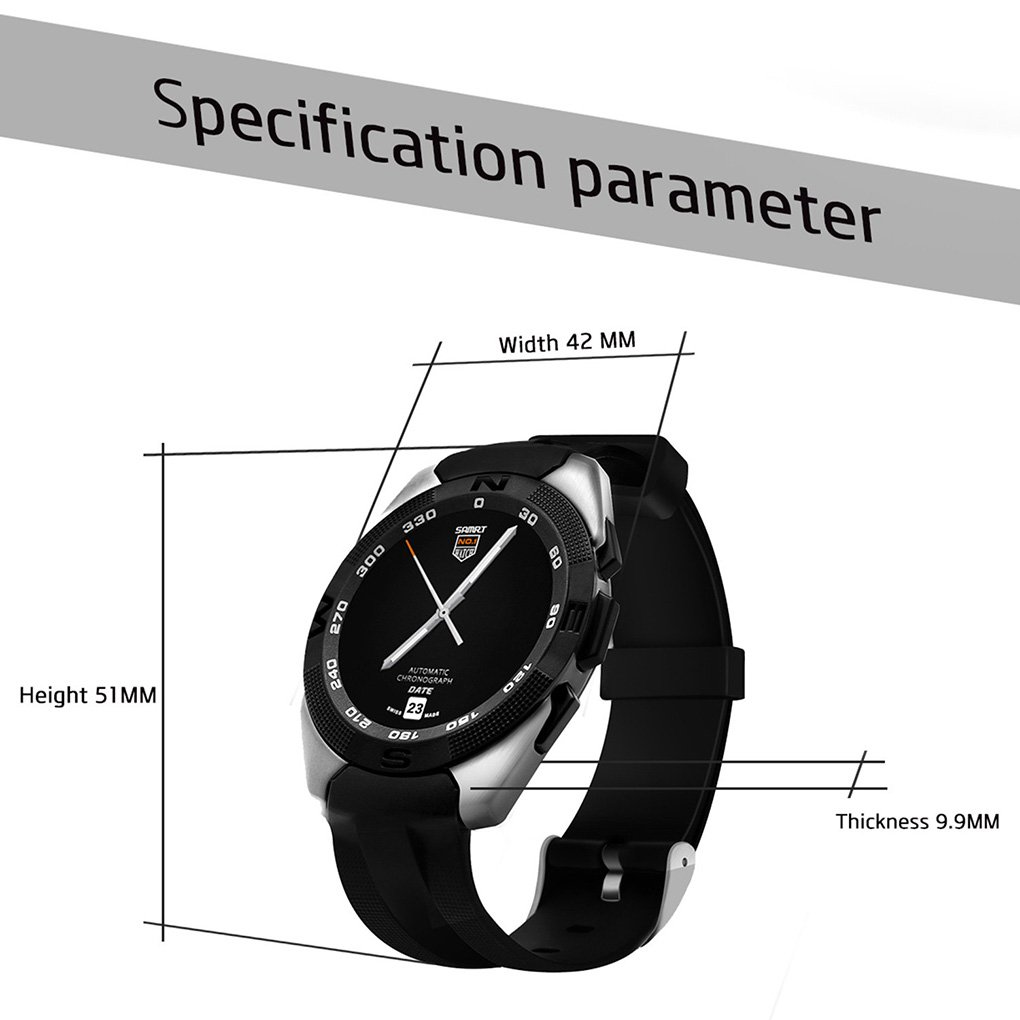 kajsao-g5 Smartwatch con cámara/Active Tracker reloj para niños/1,2 pulgadas HD de pantalla, 128 M + 64 M/sincronización de teléfono libro/SMS/Inglés, ...
