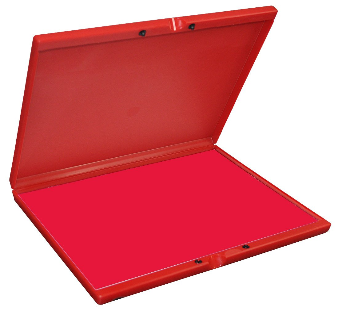 Industrial Stamp Pad, Extra large 9.25'' x 12.25'' Stamp Pad - Red Ink
