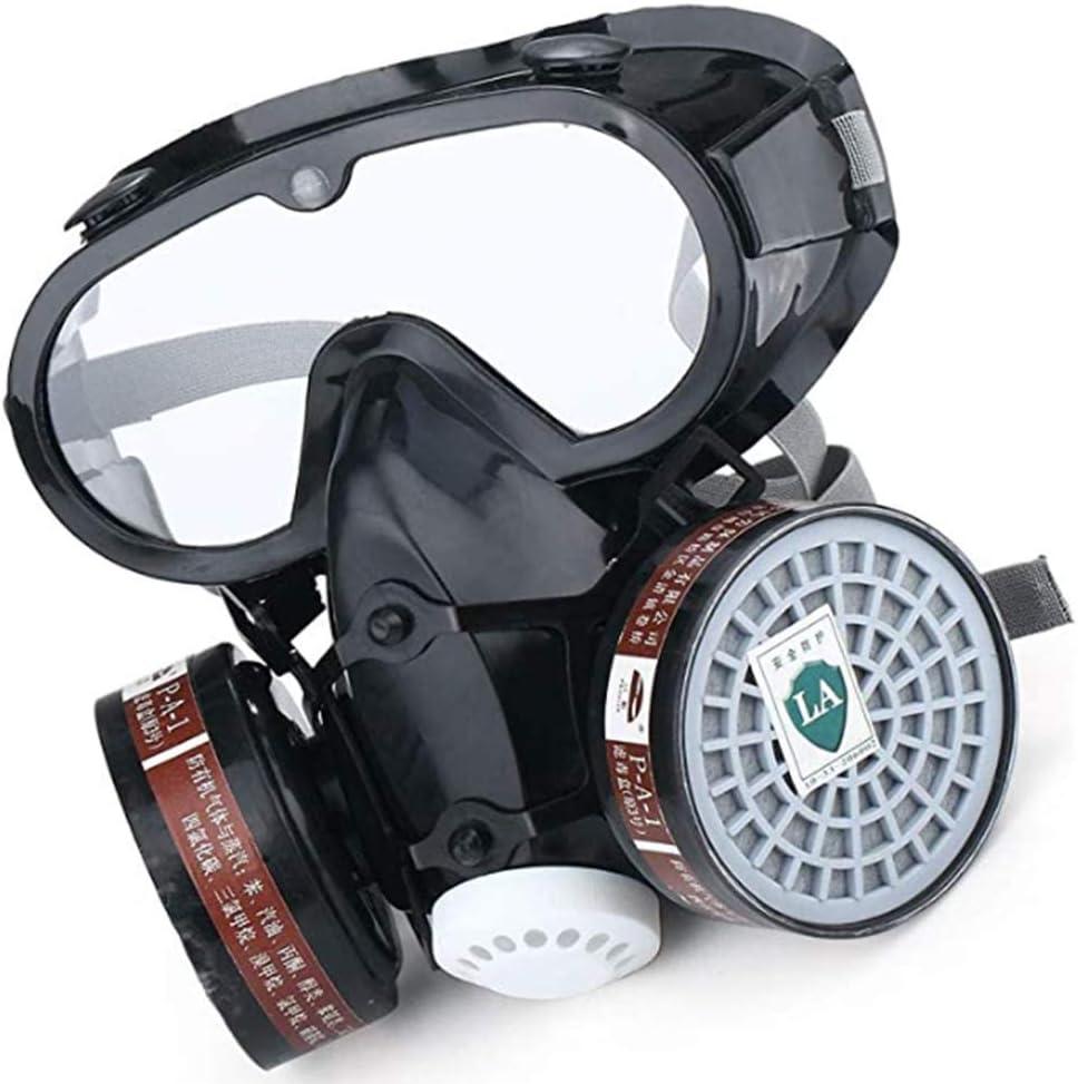 JINSE Máscara De Desgaste Sisamesa con Máscara De Válvula Única De Doble Tanque Half para La Protección De Barrera para El Tiempo Más Fino E. Polvo, Humos Y Gols