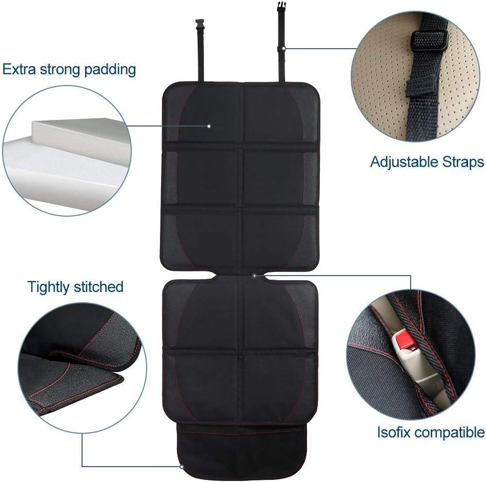 LIGHTOP Autositzauflage Schutz vor Autositze Kindersitzunterlage in universeller Passform wasserabweisend geeignet Autositzschoner