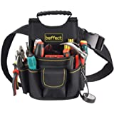 Bolsa para electricista, 20 bolsillos Cinturón para bolsa de herramientas de lona con cinturón de ajustable Herramienta para electricistas de servicio pesado Bolsa de trabajo de cintura