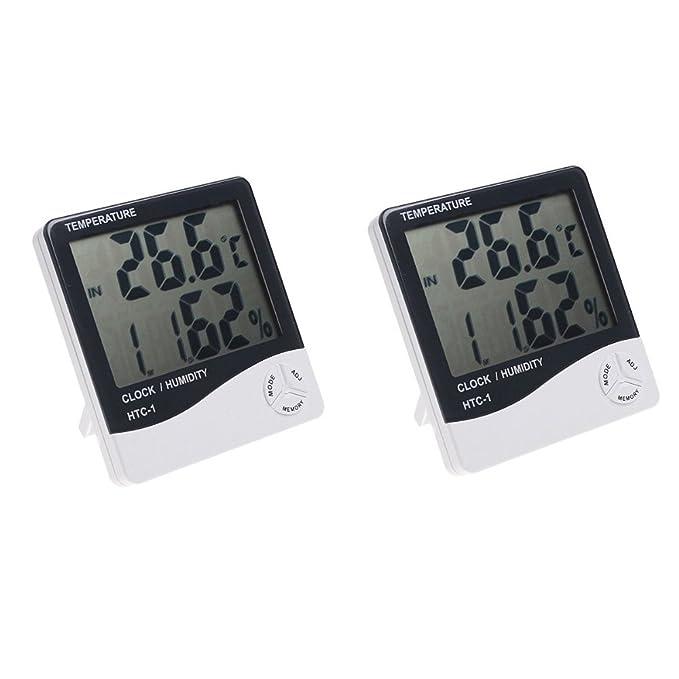 4pcs LCD Digital Raumthermometer mit Feuchtigkeitsmesser Hygrometer Schw sr