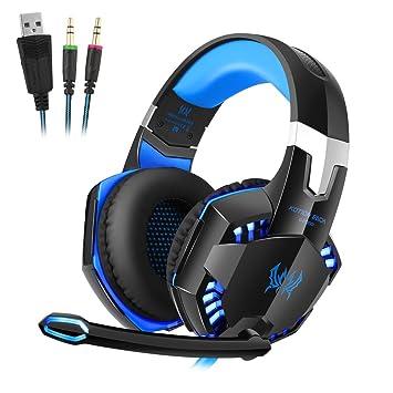 Auriculares Gaming PC, Micrófono incorporado con micrófono estéreo ...