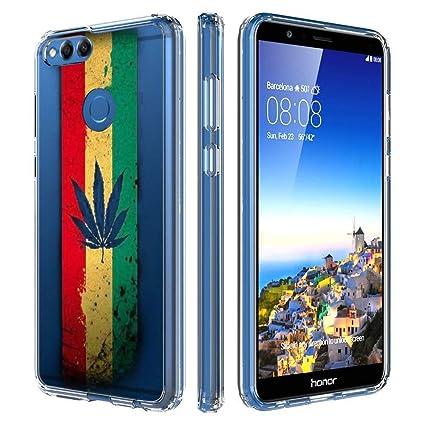 Amazon.com: Funda de TPU suave para Huawei Honor 7X, carcasa ...