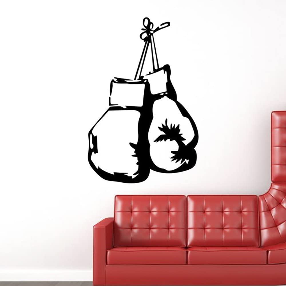 """ChezMax DIY Removable Wall Decor Waterproof Boxing Gloves Pattern Wall Sticker 15.7"""" x 23.6"""""""