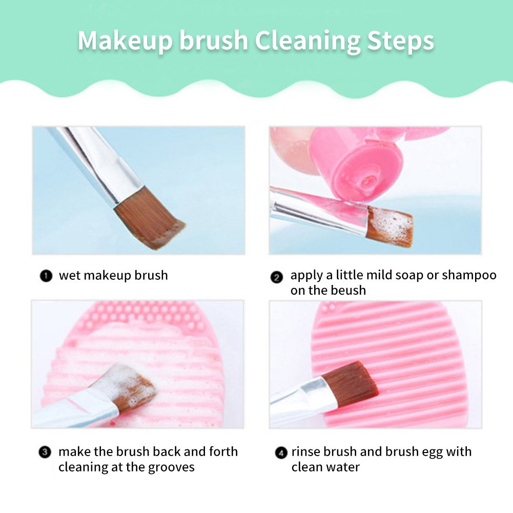 Makeup Washing Brush Egg Silicone Gel Glove Scrubber Cleaning Mat Cosmetic Tool Cleaner Mitt 1 Pcs Beauty