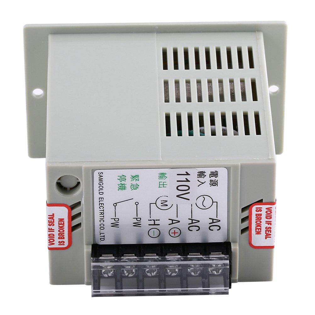 90V DC Motors Walfront DC Motor Speed Controller 36V 24V-90V Adjustable Single Phase Motor Speed Controller for 24V