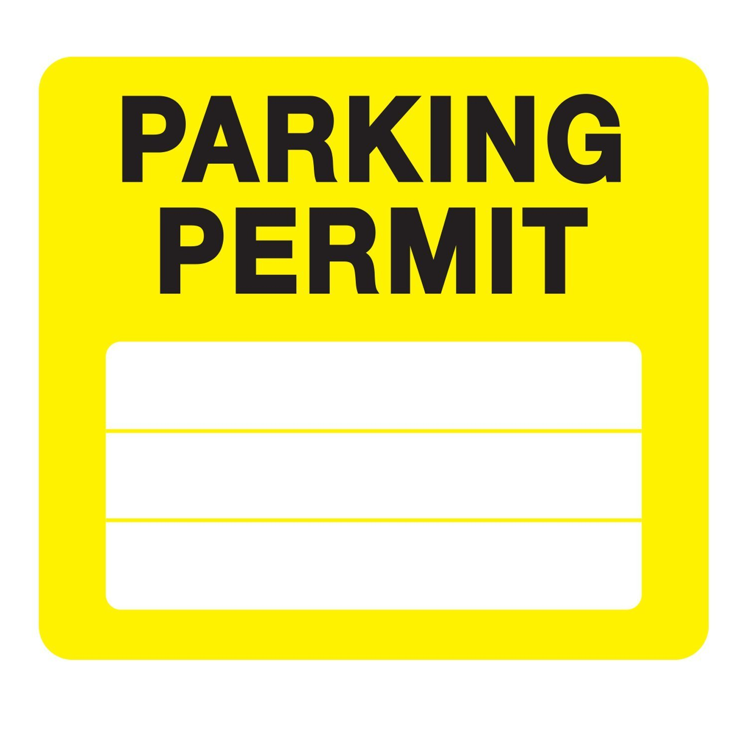 Tenants Office Businesses Students Apartments 10 Pack Parking Permit Pass Stock Static Cling Windshield Sticker Non-Adhesive for Employees by Milcoast White