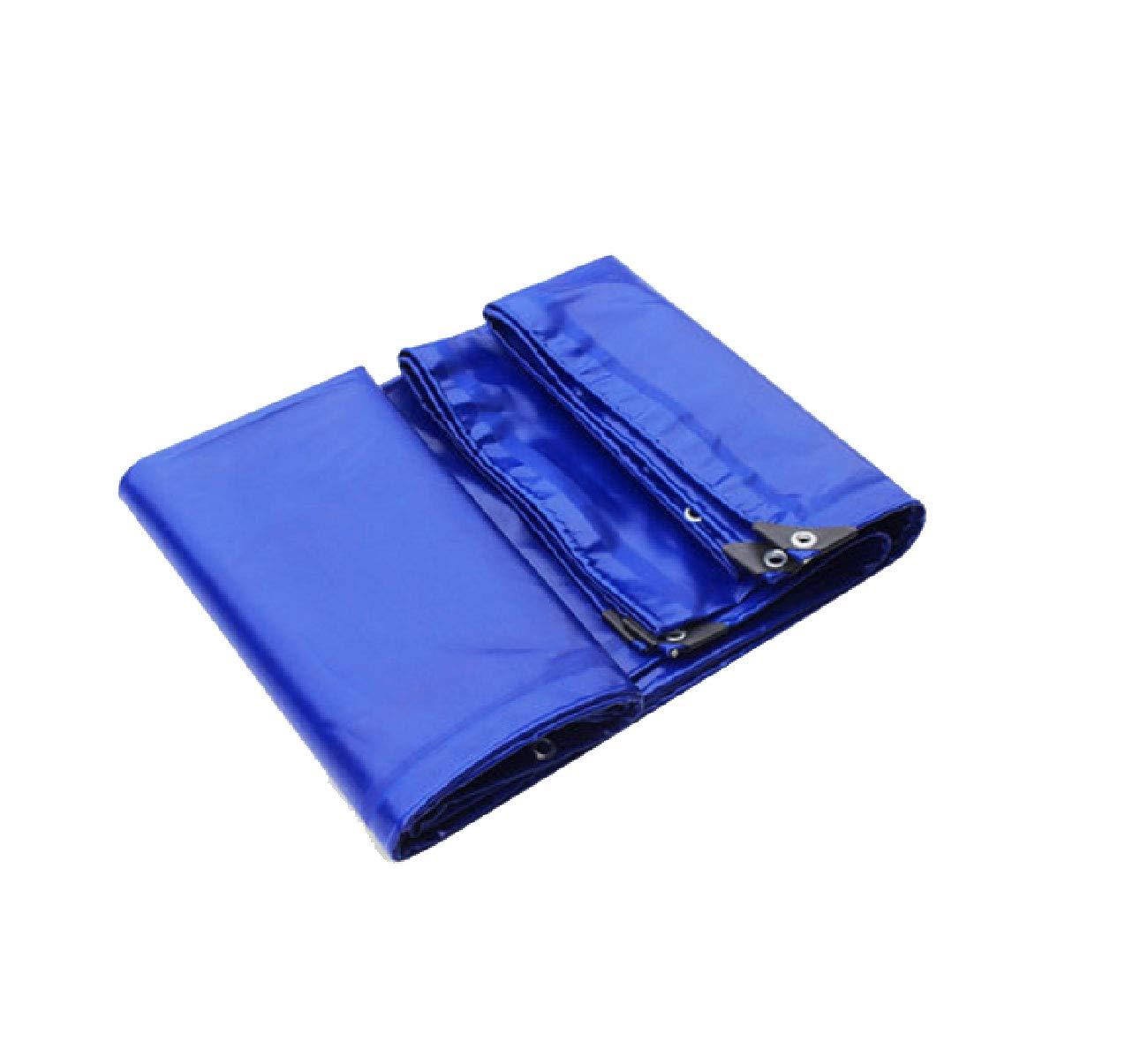厚めの防水布防水布3つの抗布雨天のPVPコーティングされた布車の防水シートのキャンバスブルー高強度3 * 3ストランド無臭のタイトな引張防水と太陽に強い (サイズ さいず : 4 * 5m) 4*5m  B07JD5XKXX