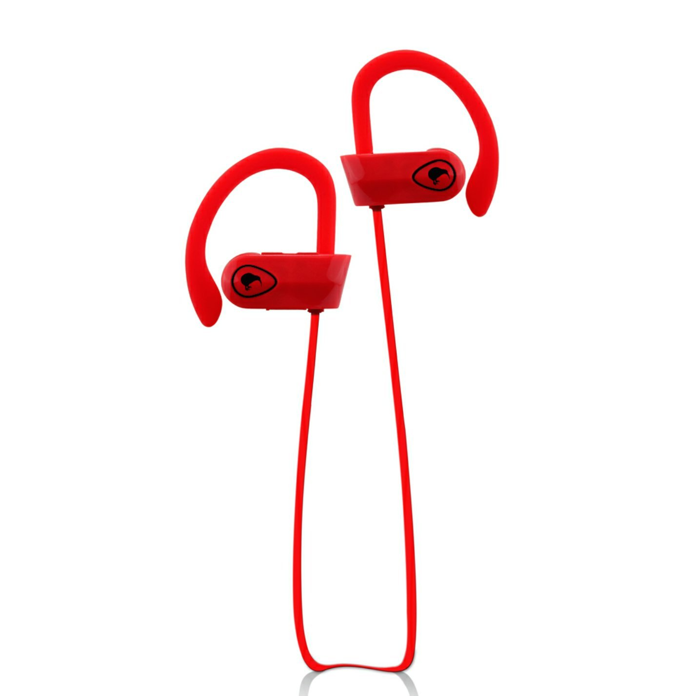 Auriculares Bluetooth con Mic By Kiwi-HD Bluetooth Earbuds - Sweat-proof IPX7 A Prueba de Agua (Red/Red)