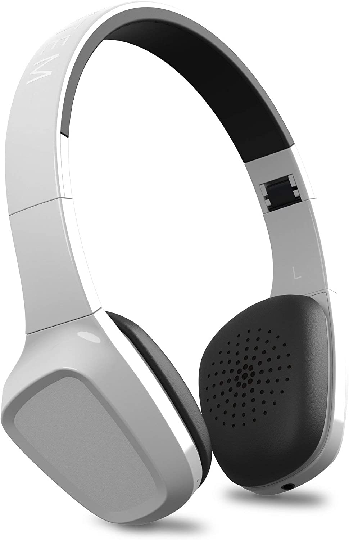Energy Headphones 1 Bluetooth White (Bluetooth, Micrófono, Control de Llamadas, Batería Recargable, ultraligeros, Cable de Audio, Diadema Regulable y Almohadillas con rotación)