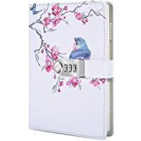 ToiM PU Leather Journal, A5 Secret Diary with Lock (Bird)