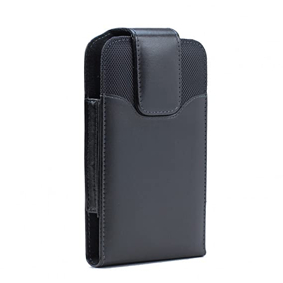 buy popular 93092 e2ef5 XXL SIZE iPhone 8 , iPhone 7, iPhone 6S / 6 4.7 INCH Vertical Leather Belt  Clip Holster Pouch Case ( Fits iPhone 8 with OTTER BOX SYMMETRY / Defender  ...